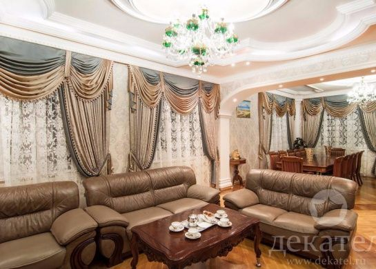 Шторы luxury для гостиной и зала Декатель, Новосибирск ...