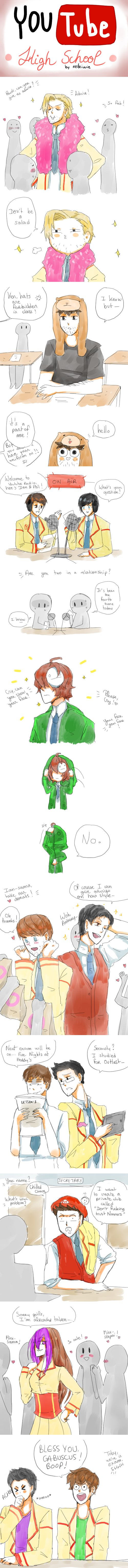 Youtube High School by Reikiwie.deviantart.com on @DeviantArt I died at dan and phil