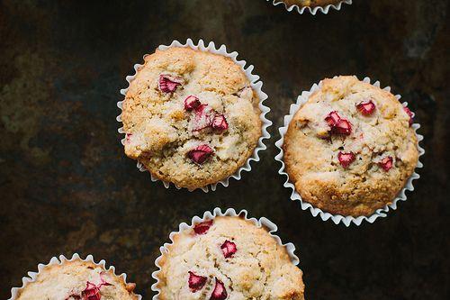Rhubarb, apple + ginger muffin recipe {gluten + dairy-free}