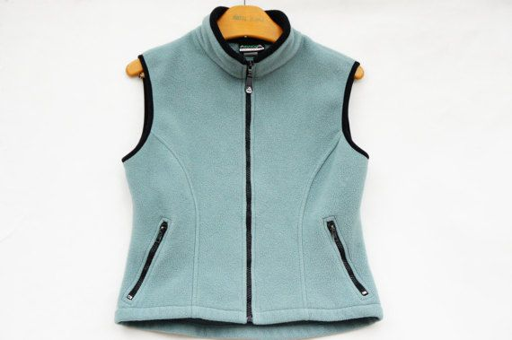 Vintage 90s Fleece Vest Made in by SycamoreVintage on Etsy
