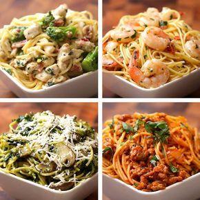 4 formas de preparar espagueti