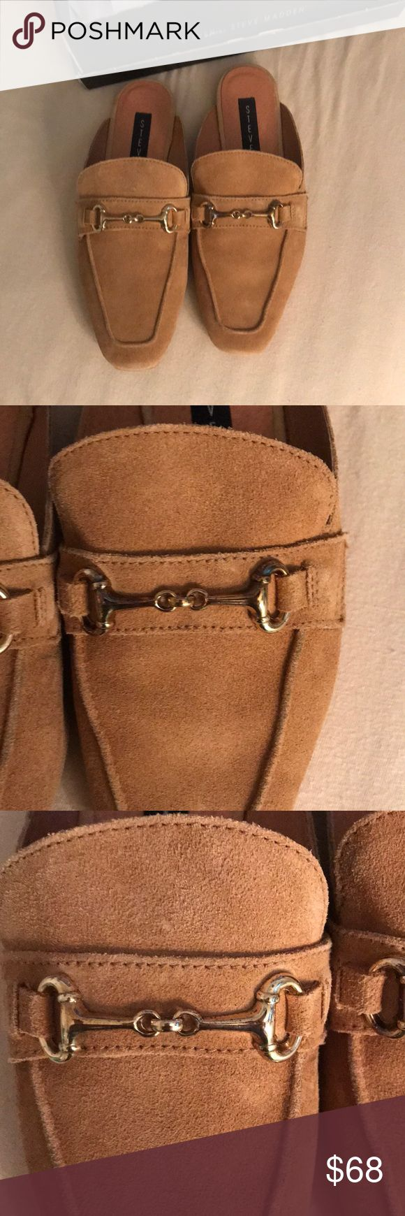 Steven madden tan loafers Steven madden tan loafers come with box the hardware has some color discoloration as pictured size 7 come with box ... in good condition as pictured Steven By Steve Madden Shoes