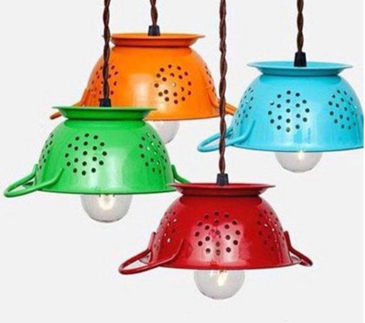 M s de 25 ideas incre bles sobre lamparas recicladas en - Lamparas originales recicladas ...