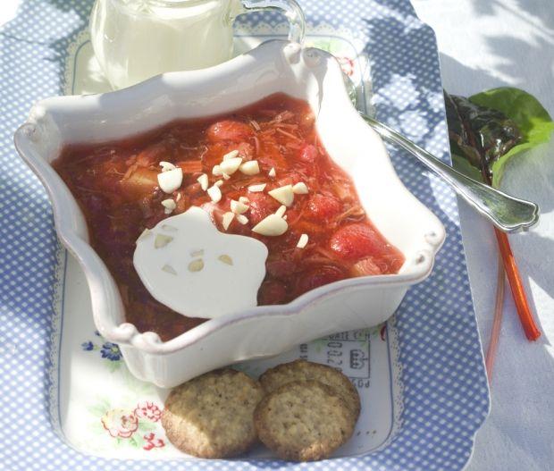 Jordbær-rabarber-grød