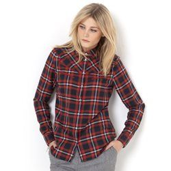 Long-Sleeved Checked Western Shirt