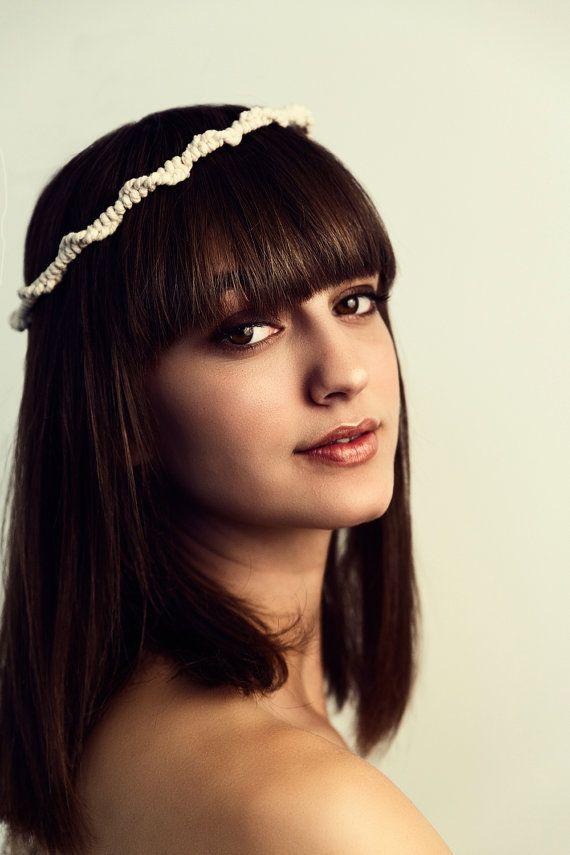 WAVES Stefana Wedding Crowns Rustic Wedding by LakaLuka on Etsy