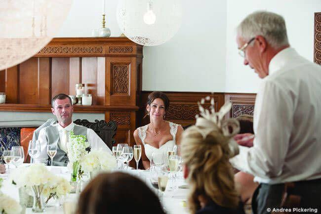 Als Brautvater eine Rede auf der Hochzeit halten