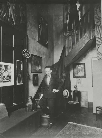 Man Ray in his Paris Studio