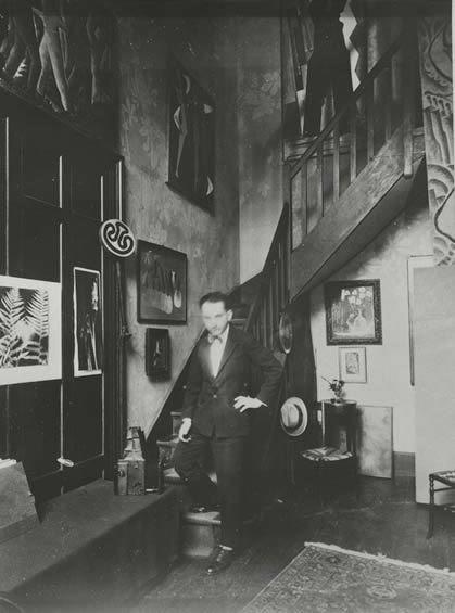 Man Ray in his Paris Studio