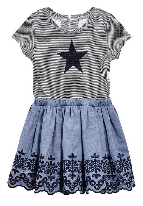 Kleding Next Korte jurk - denim blue  Blauw: € 24,00 Bij Zalando (op 1-3-17). Gratis bezorging & retournering, snelle levering en veilig betalen!