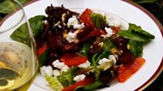 Roasted Beet, Blood Orange & Goat Cheese Salad | add arugula to greens