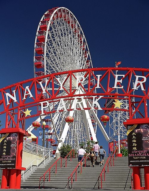 "Chicago - Navy Pier ""Ferris Wheel"" by David Paul Ohmer, via Flickr"