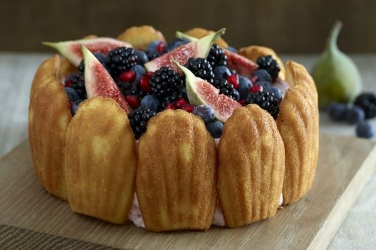 Eric Lanlard's winter fruits and madeleines charlotte cake recipe