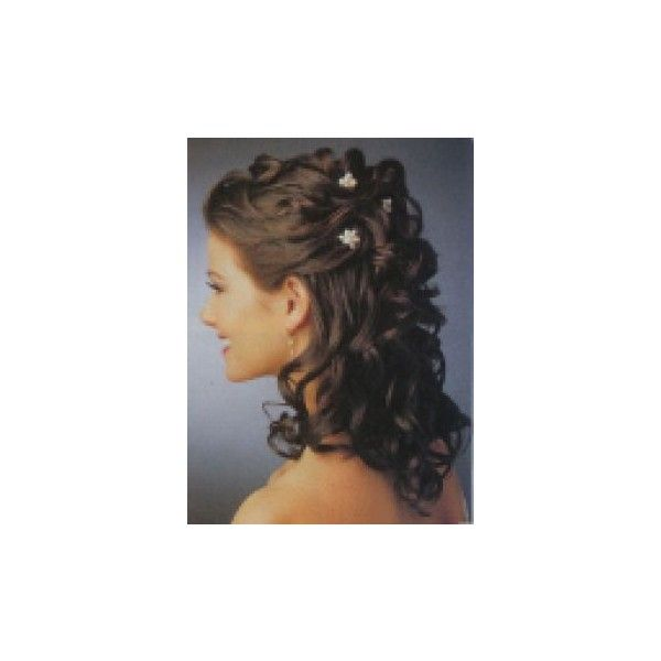 vintage wedding hairstyles for naturally curly hair styles found on Polyvore