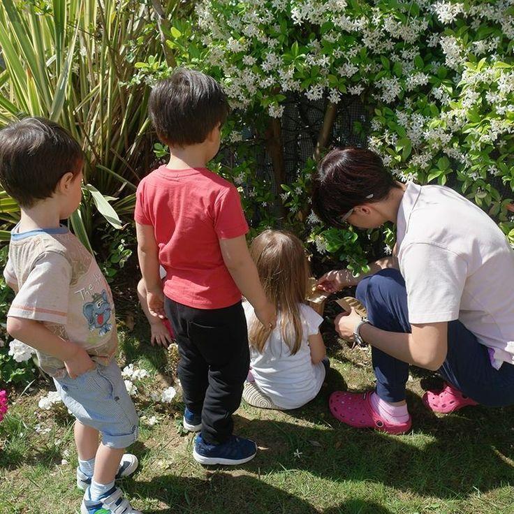 Durante il consueto giro di esplorazione in giardino i bambini hanno scoperto qualcosa di nuovo, strano e inspiegabile...cosa? #IlFuturoIniziaDaQui