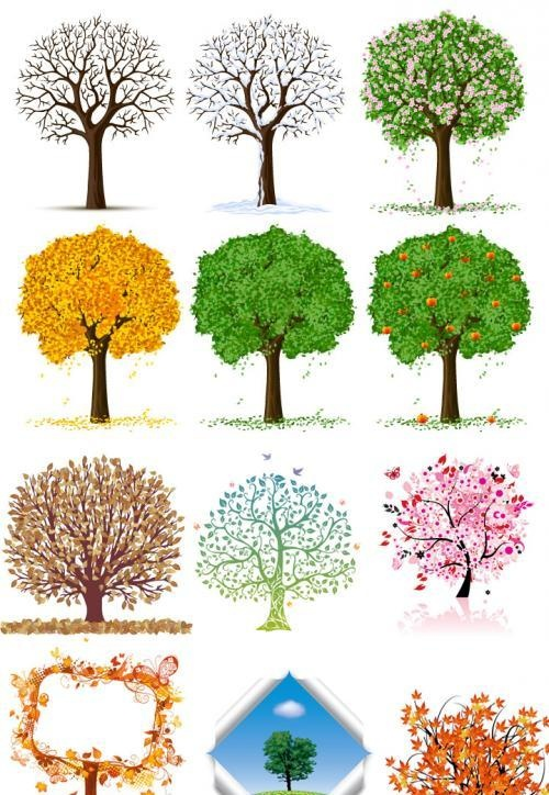 Tree Graphic Design | Awesome Vector Trees