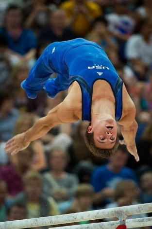 Sam Mikulak! Cool shot, you can see his abs