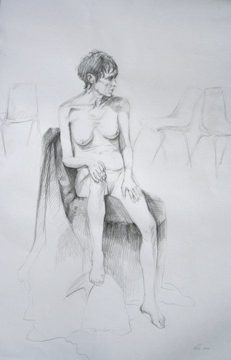 Life Drawing. Graphite on paper