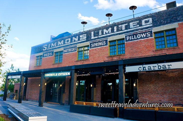 Simmons Building Exterior in the East Village, Calgary, Alberta, Canada