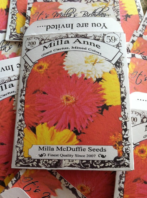 I have children. / Seed Packet Party Invitation Tutorial