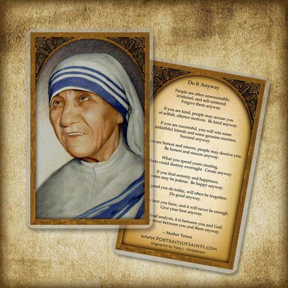 St. moeder Teresa van Calcutta Heilige kaart door PortraitsofSaints