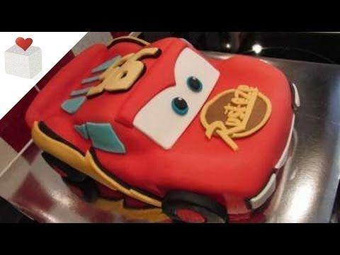 Tarta Rayo McQueen cubierta con Fondant | Tartas de Fondant por Azúcar con Amor - YouTube