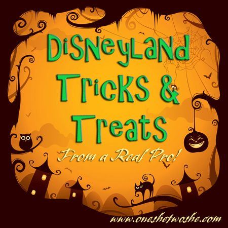 Disneyland Tricks & Treats ~ From a Real Pro! (she: Kimberly) - Or so she says...