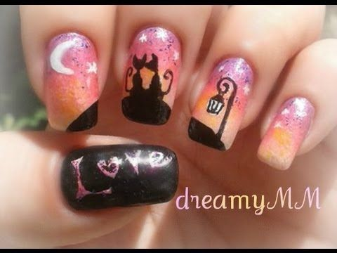 59 best video tutorials nail art design ideas images on cats in love watching the dawn nail art tutorial prinsesfo Image collections