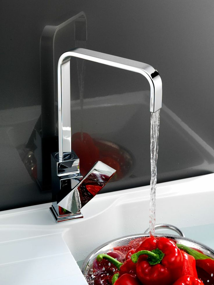 Smooth planar forms on this Reginox Plaza tap. http://www.sinks-taps.com/item-10207-PLAZA_Kitchen_Tap.aspx