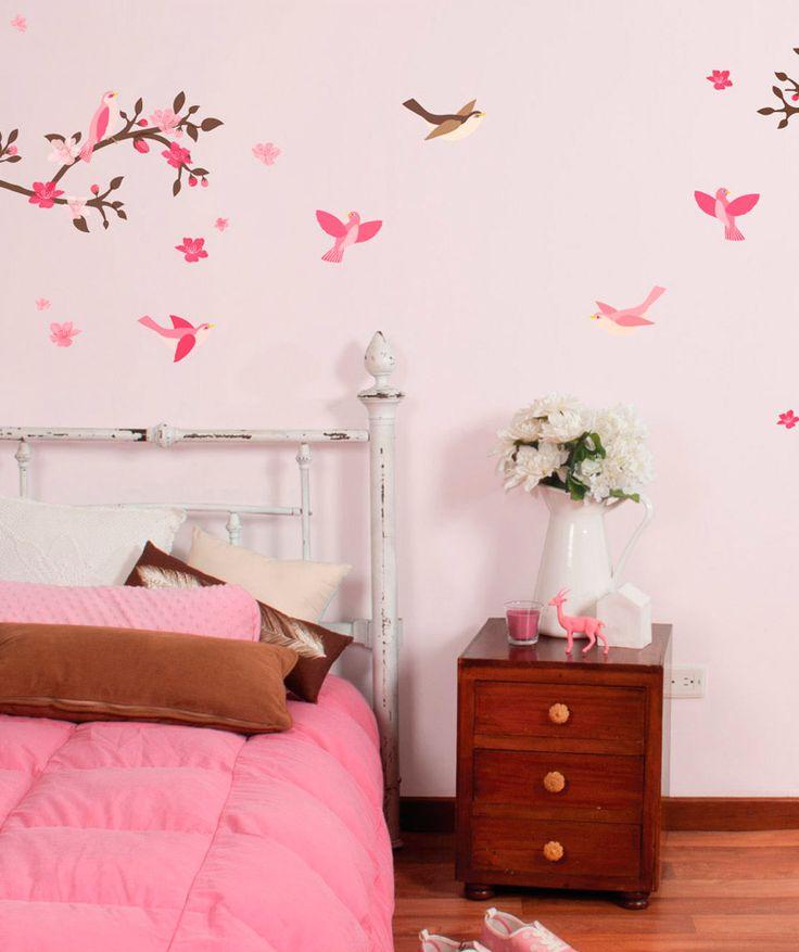 Cherry blossoms rosa flor de cerezo rosa vinilo for Adhesivos neveras decoracion