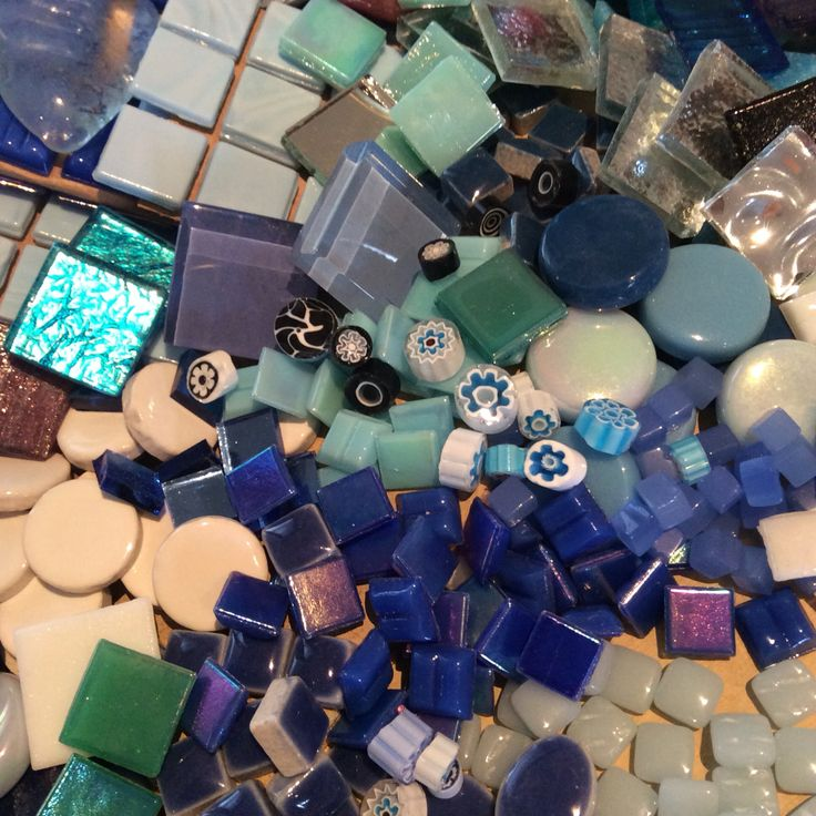 Collection of tesserae for my new mirror mosaic.