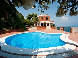 Enchanting over water villa with private pool and whirpool bathtube   Holiday Rental in Costa Saracena Castelluccio from @HomeAwayUK #holiday #rental #travel #homeaway