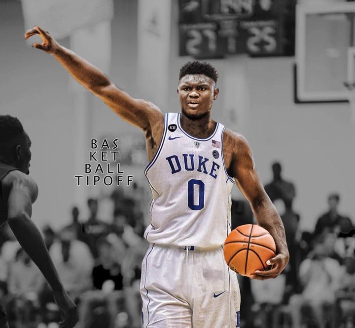 Zion Williamson, estrella del baloncesto universitario de