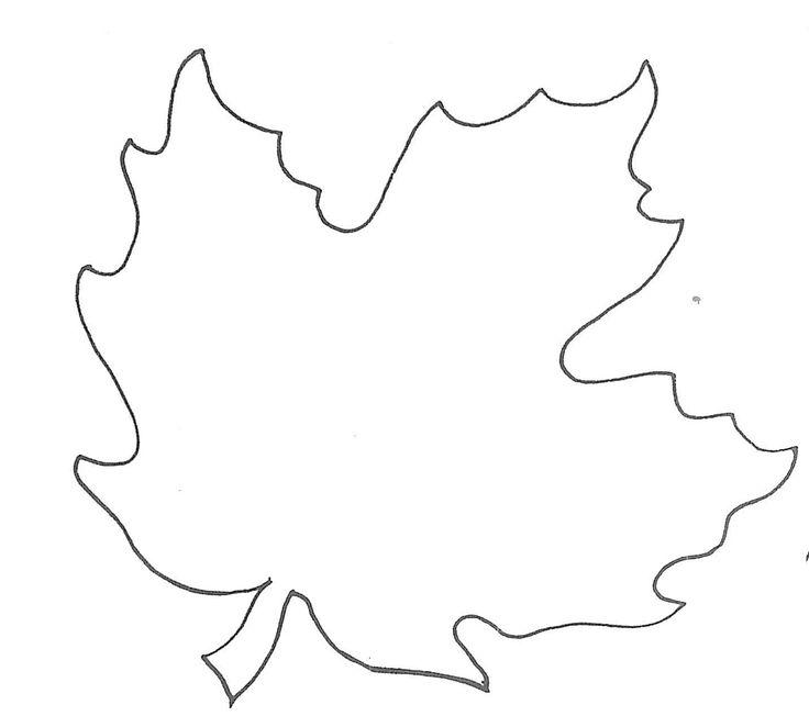 Best  Leaf Template Printable Ideas On   Leaf