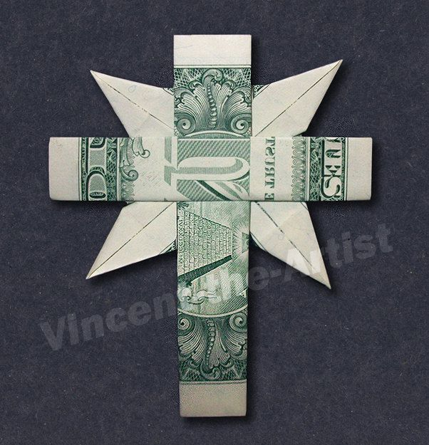 CHRISTIAN CROSS Money Origami – Dollar Bill Art