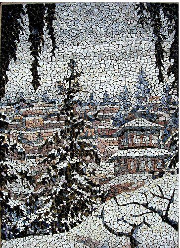 """mosaico 108- """" Nieve""""  (07-01-2010)   (52 x 73cm.)"""