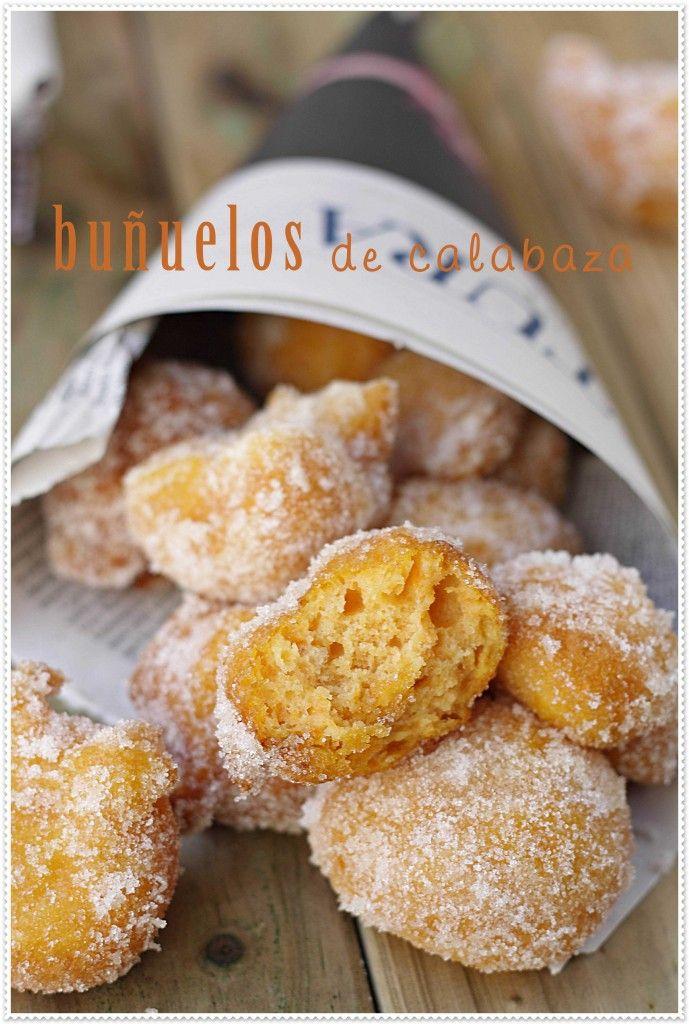 Buñuelos de calabaza {by Paula, Con las Zarpas en la Masa}