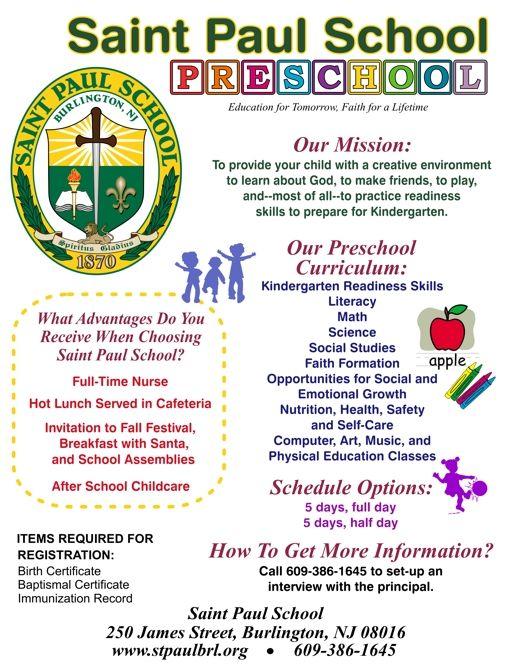 preschool registration flyer google search flyer