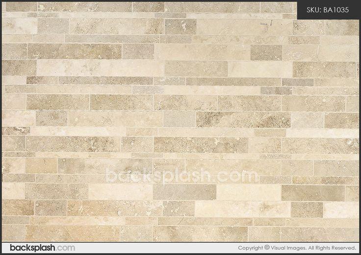 subway travertine tile | Brown Beige Color Travertine Subway Mosaic Backsplash Tile