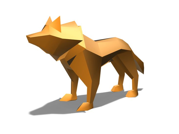 Low poly wolf - a 3D model by Youri Lepointe | VECTARY