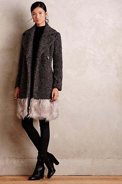 Trimmed Alpine Coat #anthropologie