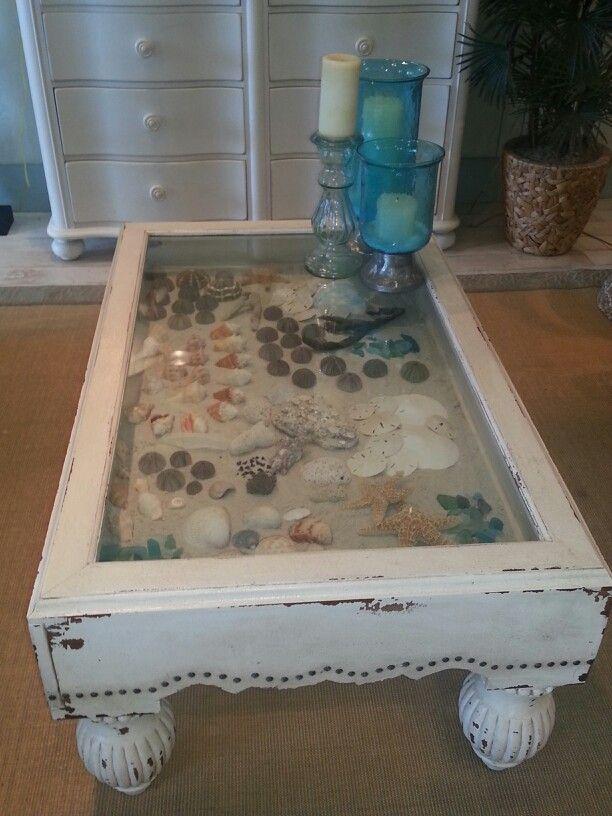 Sea Shell Coffee Table Ocean Decor I Adore Pinterest