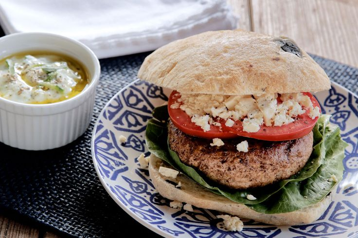 Greek 'Feta-Melt' Burgers - Make delicious beef recipes easy, for any occasion