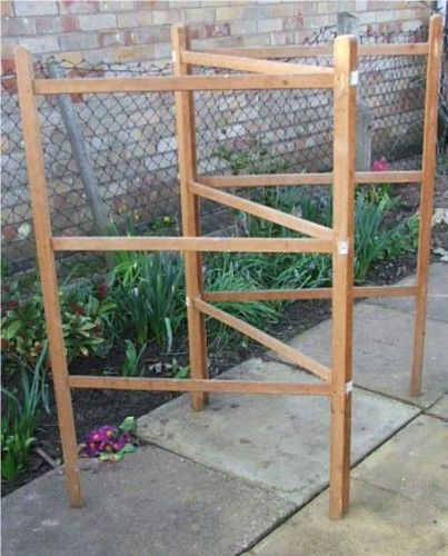 Vintage Wooden Clothes Horse…before the days of complex plastic-coated drying racks