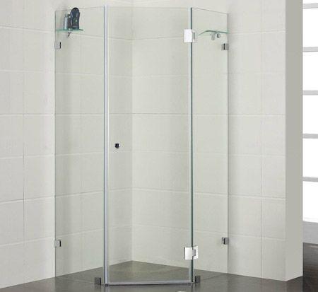 Frameless corner shower from $780 @ Bathroom Warehouse