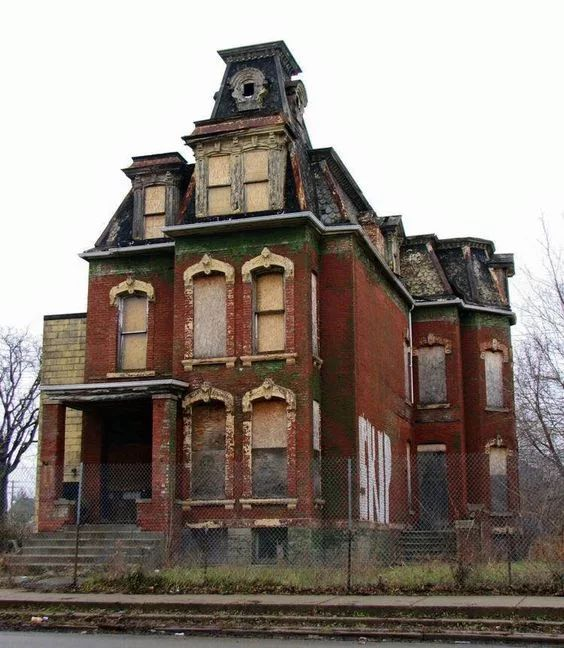 Photo: Abandoned house in Detroit