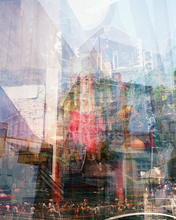 Seeing double. Photographs by Doug Keyes. He created these magnificent multiple exposure photographs. His goal is to record what the eye doesn't see but the mind retains.