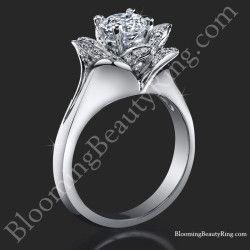 Engagement rings flower rings vintage antique engagement rings