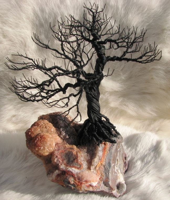 Bonsai Wire Tree on Lace Agate. $139.00, via Etsy.