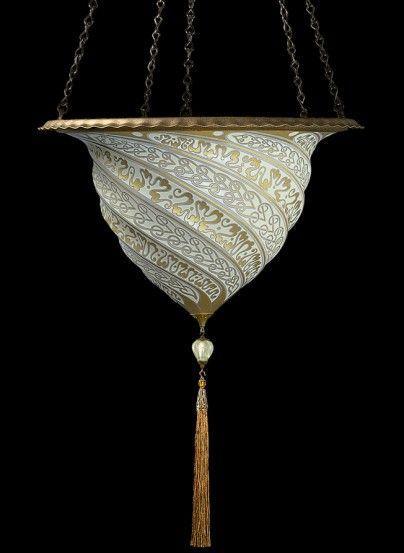 Glass Samarkanda Fortuny Lamp